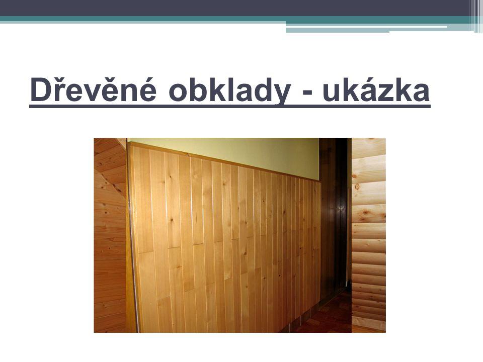 Dřevěné obklady - ukázka