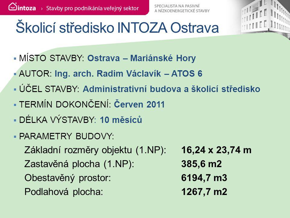 Školicí středisko INTOZA Ostrava  MÍSTO STAVBY: Ostrava – Mariánské Hory  AUTOR: Ing.