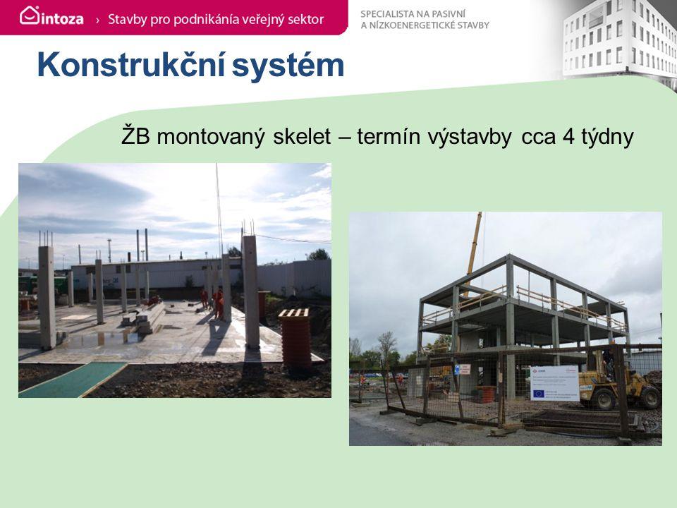 Konstrukční systém ŽB montovaný skelet – termín výstavby cca 4 týdny