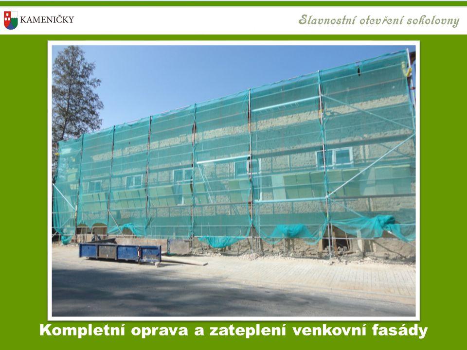 Kompletní oprava a zateplení venkovní fasády