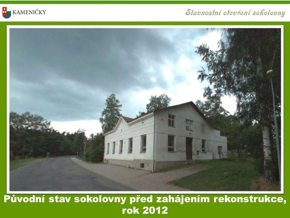 Původní stav sokolovny před zahájením rekonstrukce, rok 2012