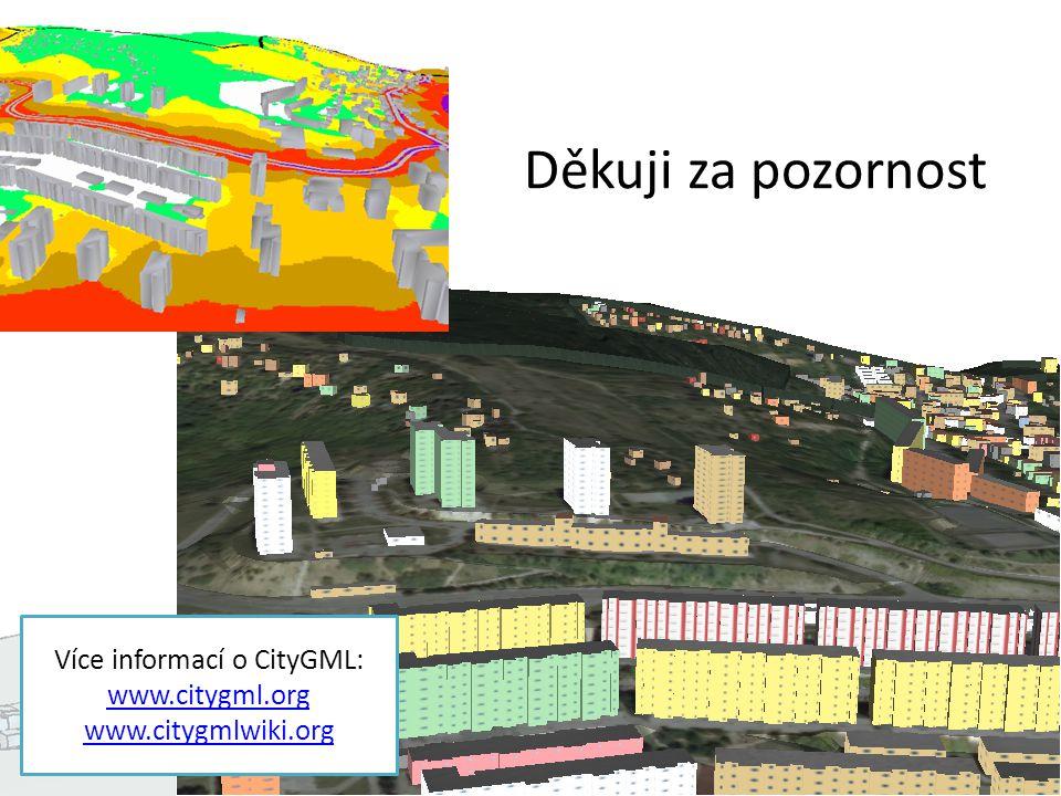 Děkuji za pozornost Více informací o CityGML: www.citygml.org www.citygmlwiki.org