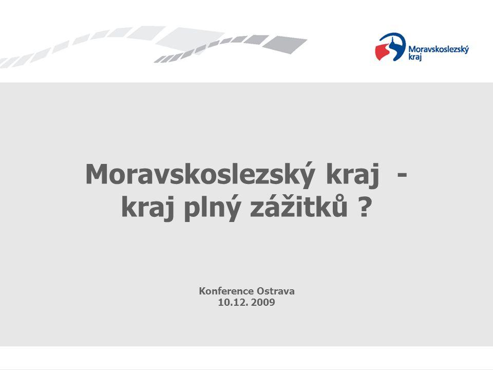 Název prezentace Moravskoslezský kraj - kraj plný zážitků Konference Ostrava 10.12. 2009