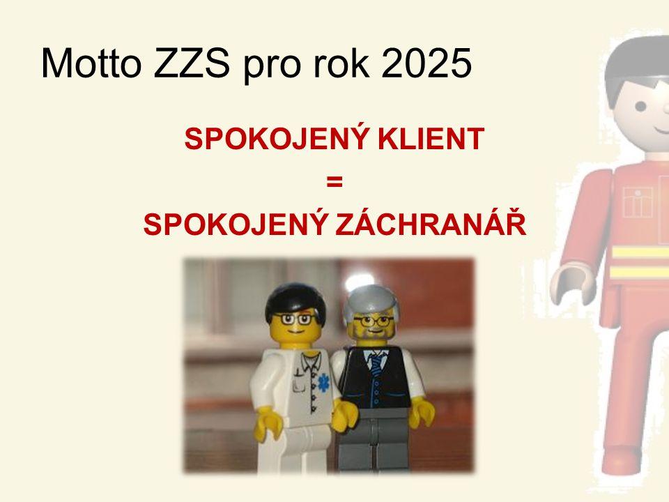 Motto ZZS pro rok 2025 SPOKOJENÝ KLIENT = SPOKOJENÝ ZÁCHRANÁŘ