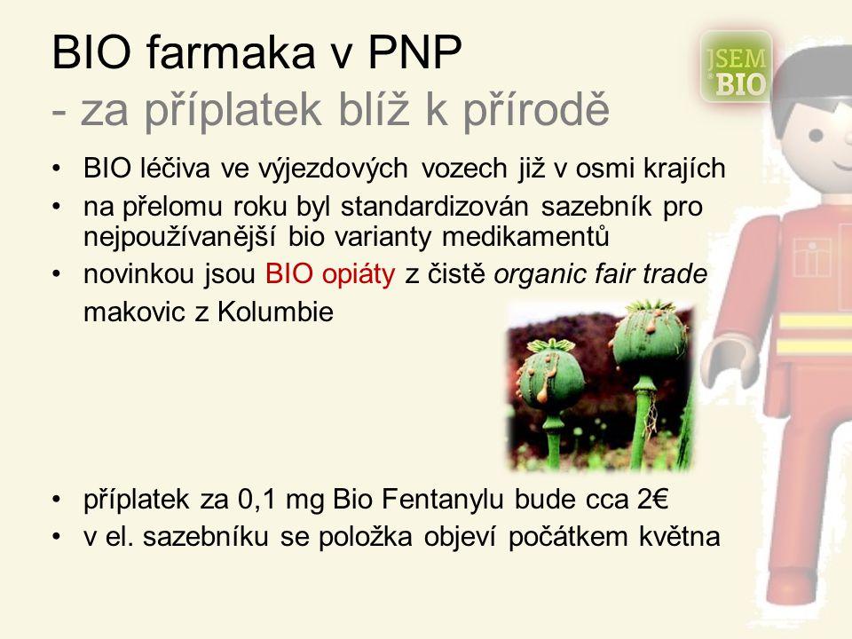 BIO farmaka v PNP - za příplatek blíž k přírodě BIO léčiva ve výjezdových vozech již v osmi krajích na přelomu roku byl standardizován sazebník pro ne