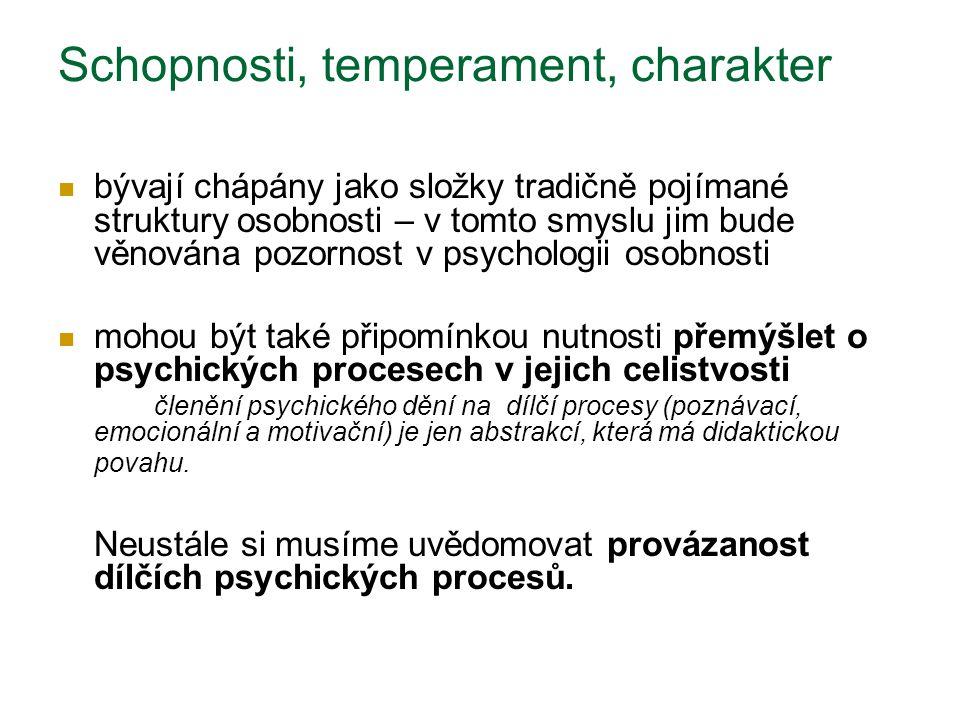 Allport: temperament zahrnuje vnímavost k emocionální situaci, obvyklou sílu a rychlost odpovědi, kvalitu převládající nálady a všechny zvláštnosti fluktuace a intenzity nálady Eysenck: více či méně stabilní a setrvávající systém afektivního chování Temperament