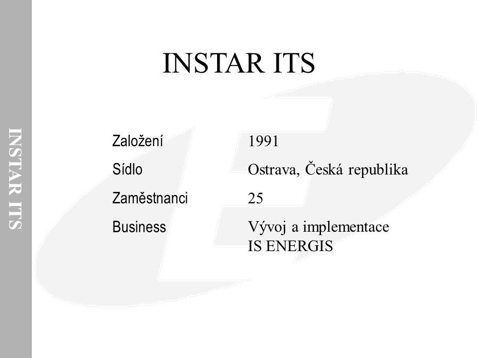 INSTAR ITS 1991 Ostrava, Česká republika 25 Vývoj a implementace IS ENERGIS Založení Sídlo Zaměstnanci Business
