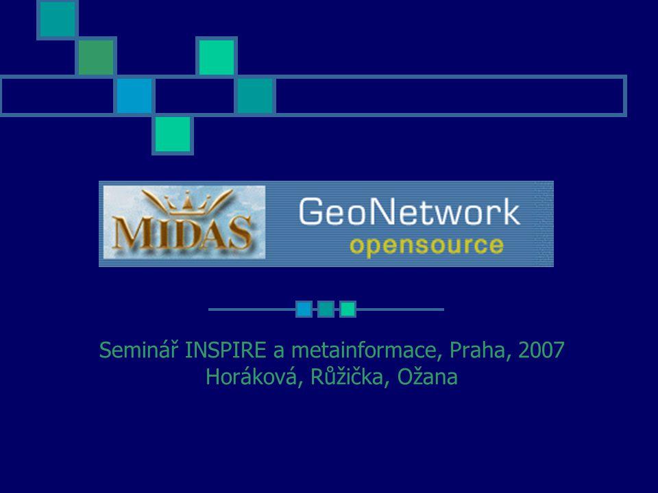 MIDAS MetaPortál Seminář INSPIRE a metainformace, Praha, 2007 Horáková, Růžička, Ožana