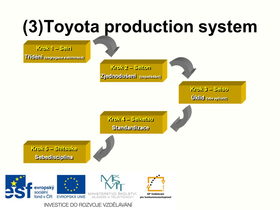 (3)Toyota production system 5S