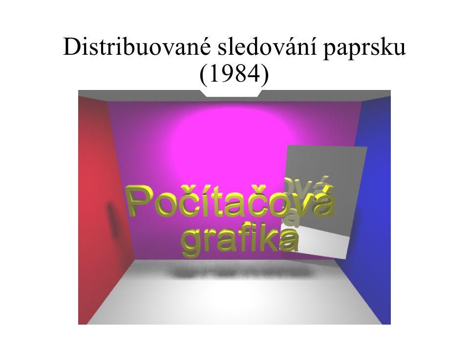 Distribuované sledování paprsku (1984)