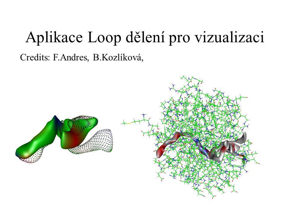 Aplikace Loop dělení pro vizualizaci Credits: F.Andres, B.Kozlíková,