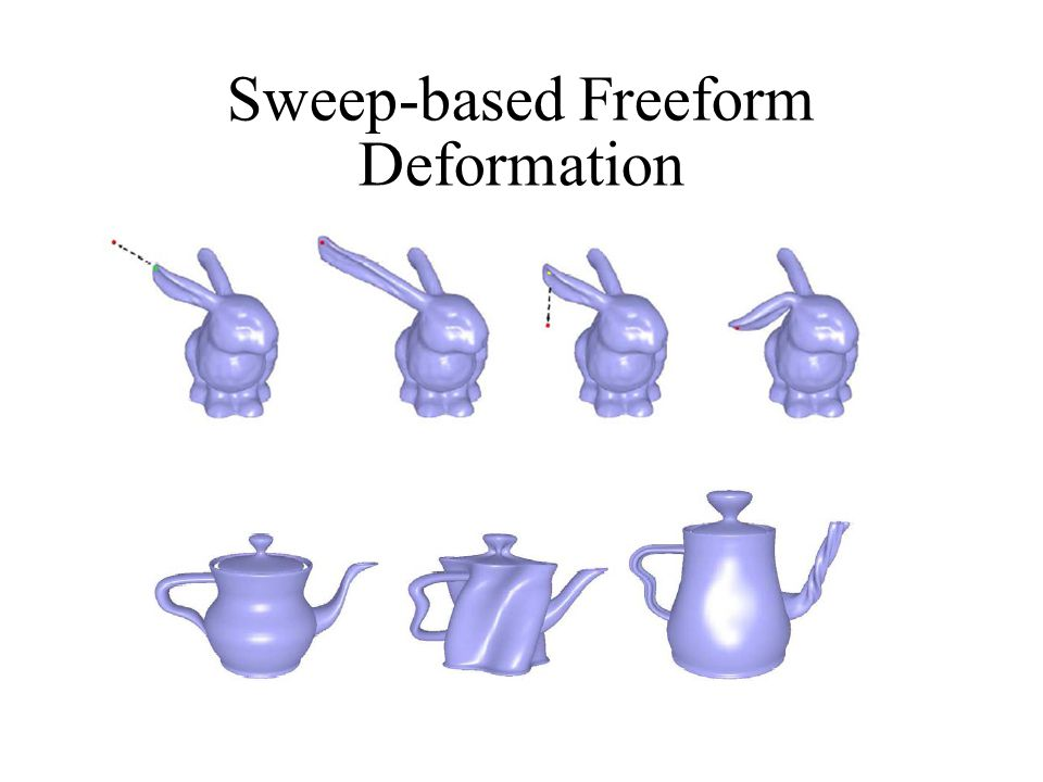 Sweep-based Freeform Deformation