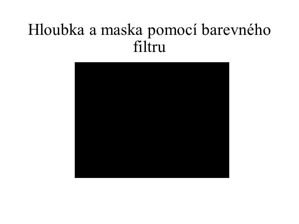 Hloubka a maska pomocí barevného filtru
