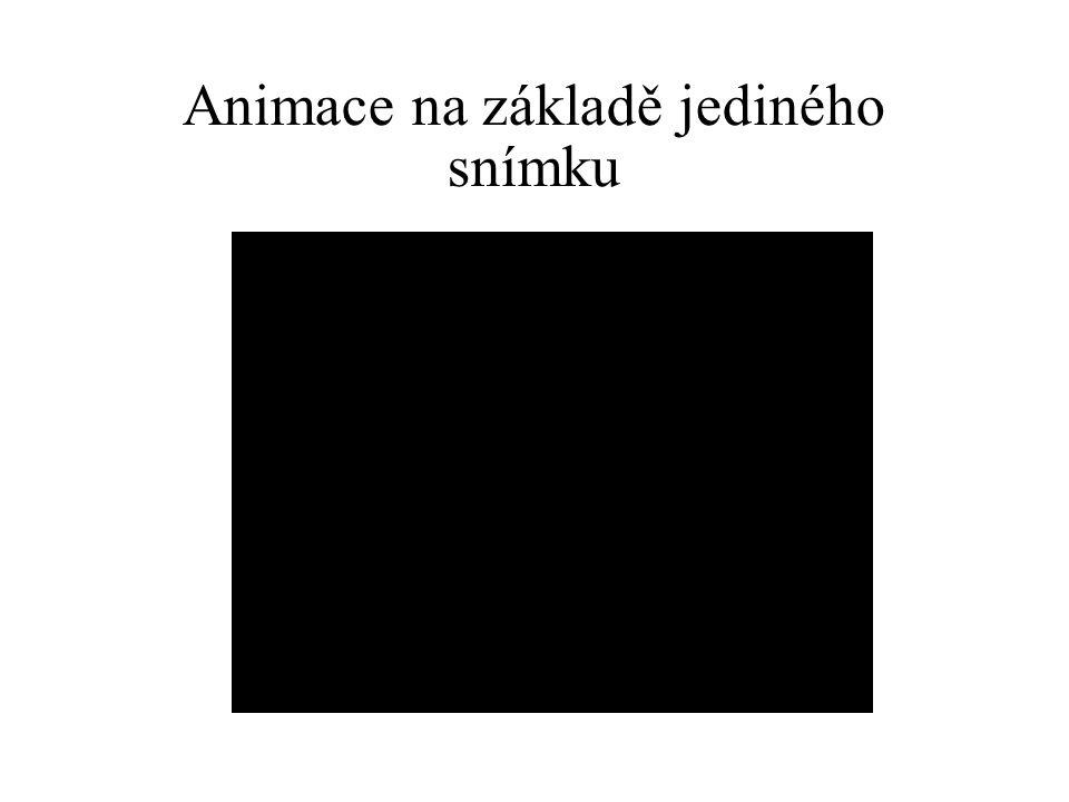 Animace na základě jediného snímku