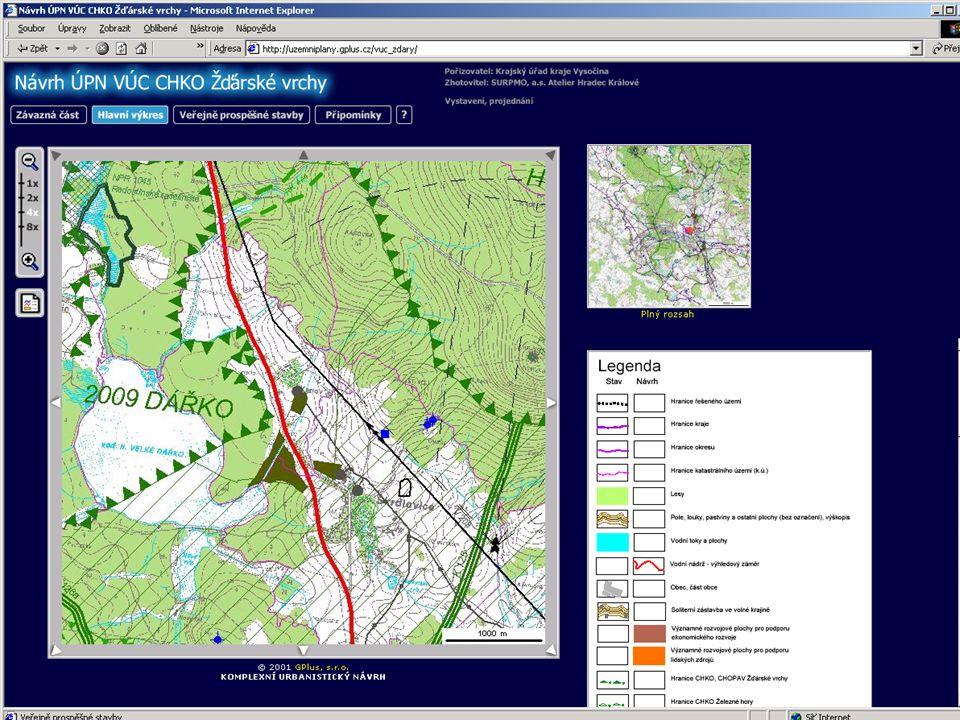 (i) Webhosting např.: územní plány: ÚPN VÚC CHKO Žďárské vrchy Zadání ÚPN VÚC kraje Vysočina