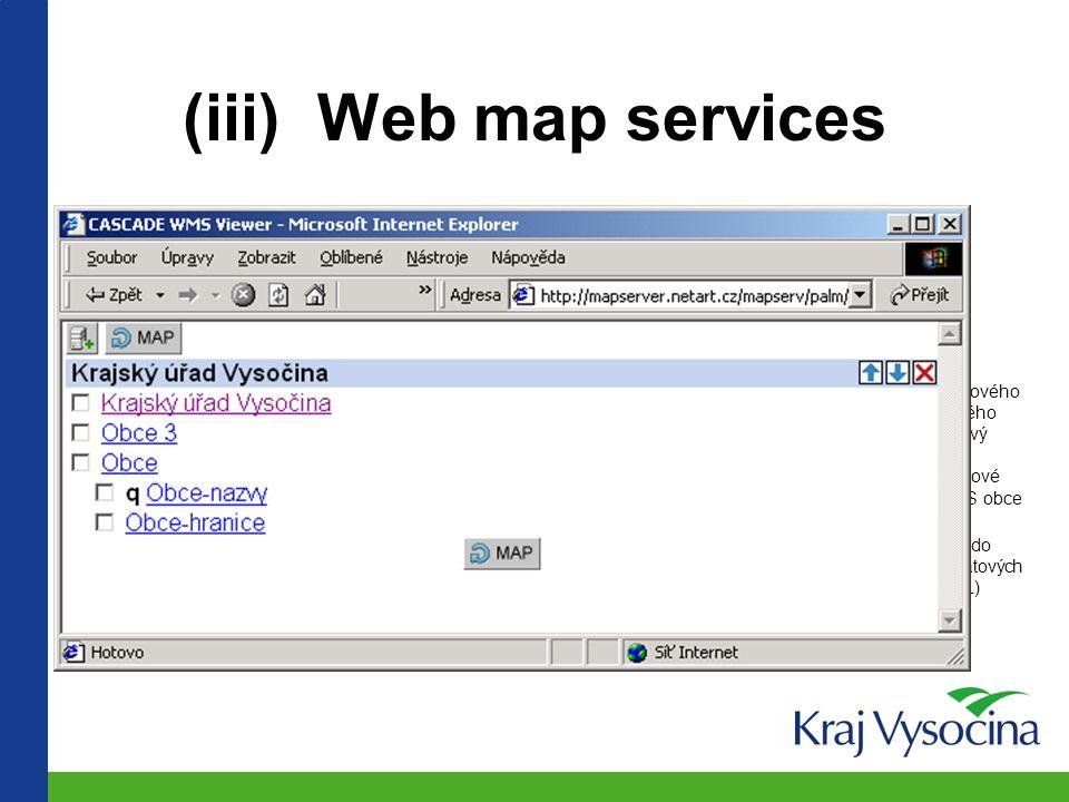 """Příklad uživatelské kombinace dat: barevné polygony = stavební úřady modré linie = detašovaná pracoviště katastrálních úřadů fialové linie = obvody """"trojek (obcí s rozšířenou působností);"""
