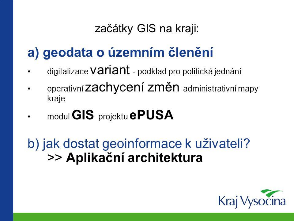 geoinformace - pro koho? občané (kde vyřídím … ?) podnikatelé, investoři samospráva (radní, zastupitelé, výbory, komise…) úřady (KrÚ, ORP, PracÚ, SSP,