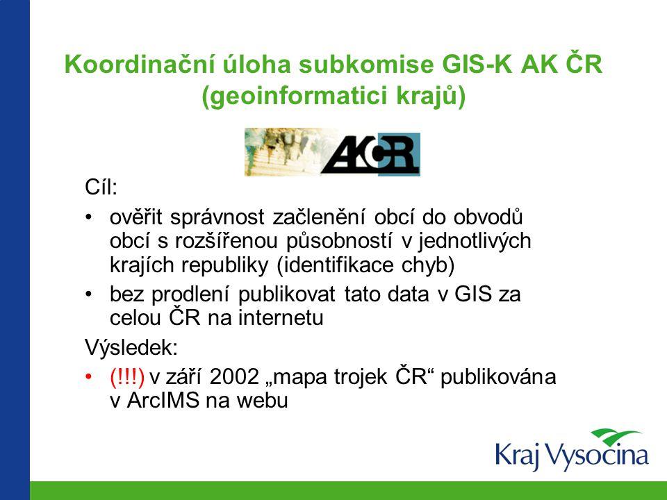 Krajská administrativní mapa červenec 2002 – dohodnutý a nyní platný stav obvodů ORP zdroj: vyhláška MV č.