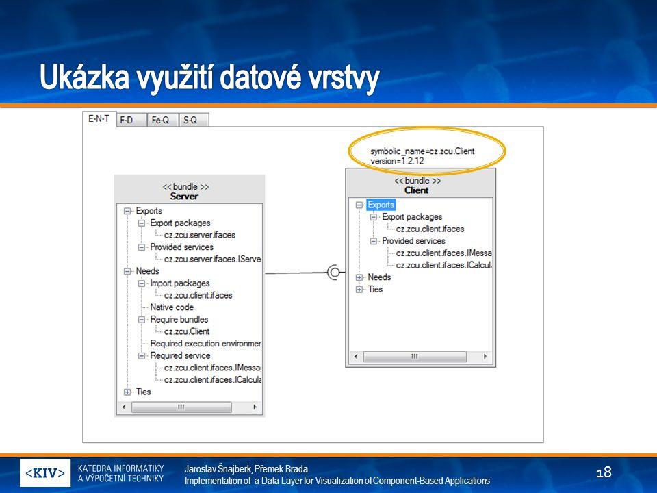 Jaroslav Šnajberk, Přemek Brada Implementation of a Data Layer for Visualization of Component-Based Applications 18