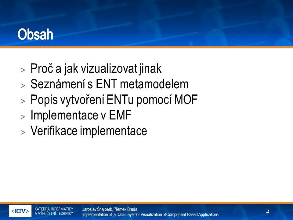 Jaroslav Šnajberk, Přemek Brada Implementation of a Data Layer for Visualization of Component-Based Applications > Proč a jak vizualizovat jinak > Sez