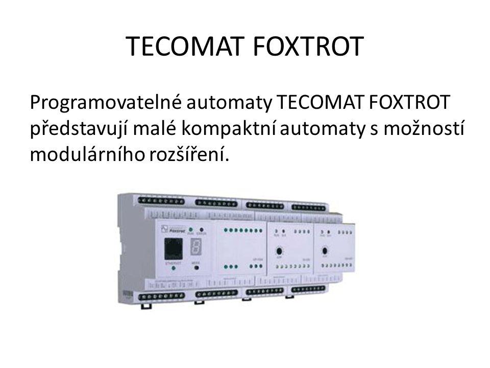 TECOMAT FOXTROT Programovatelné automaty TECOMAT FOXTROT představují malé kompaktní automaty s možností modulárního rozšíření.