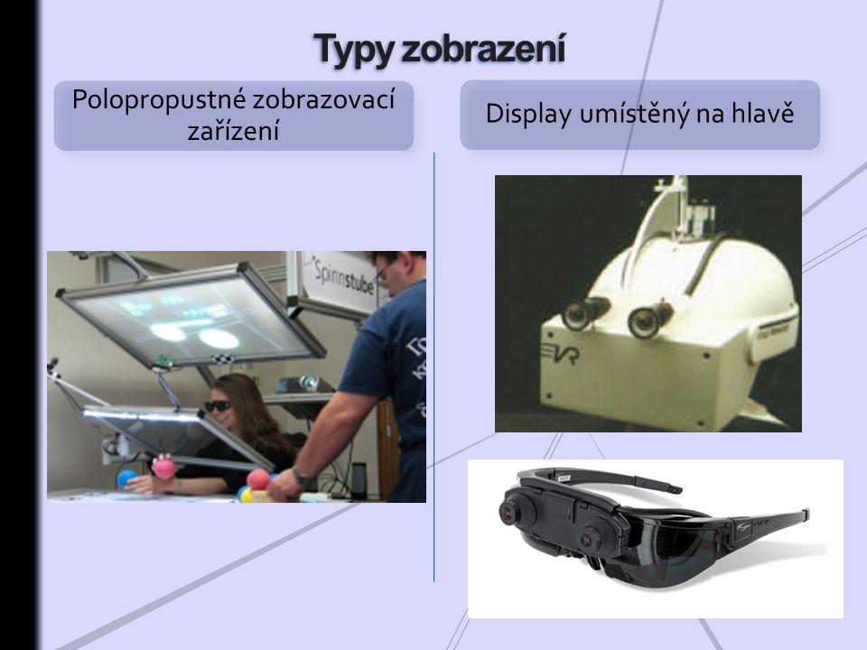Polopropustné zobrazovací zařízení Display umístěný na hlavě