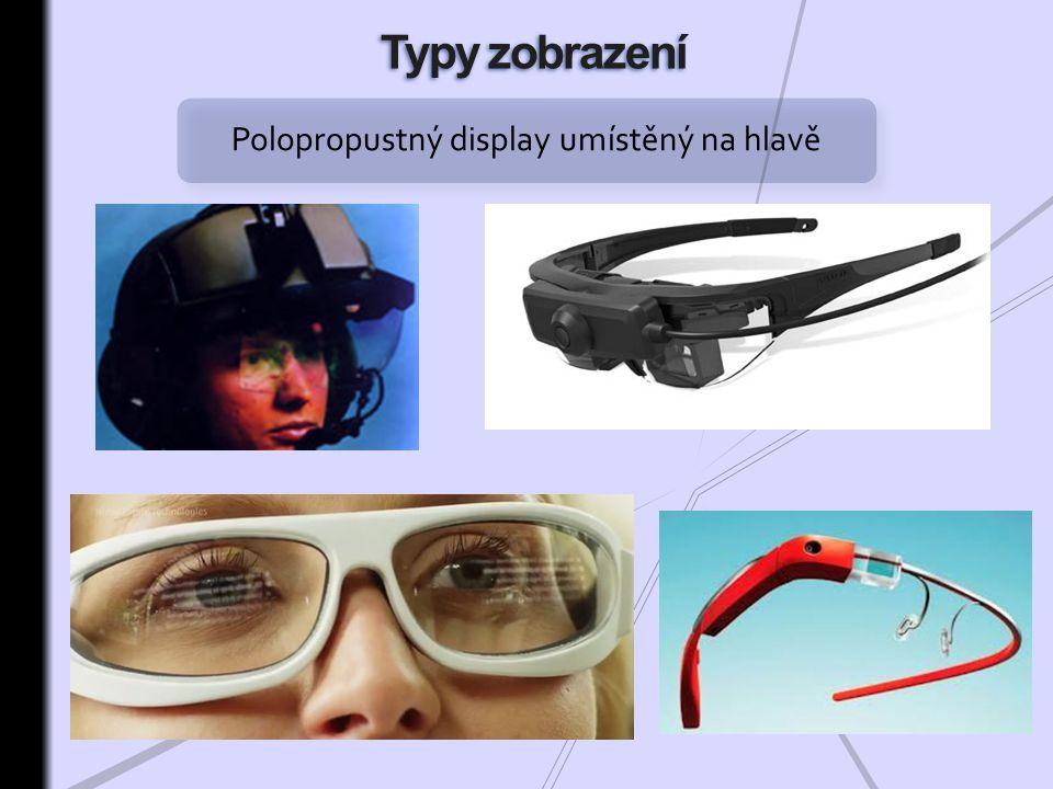 Polopropustný display umístěný na hlavě