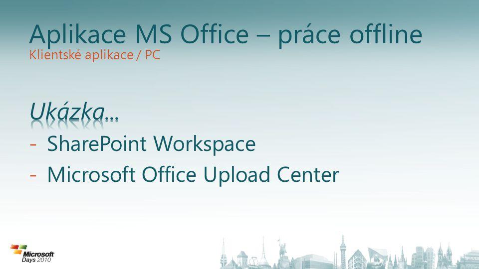 Aplikace MS Office – práce offline Klientské aplikace / PC