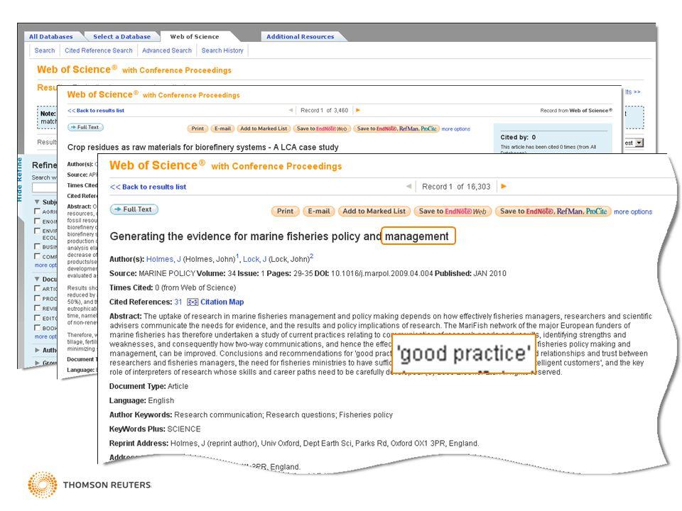 Hledání – 'Lemmatization' Se zapnutou funkcí 'Lemmatization' Web of Knowledge 5 – Nový vzhled, mnoho vylepšení
