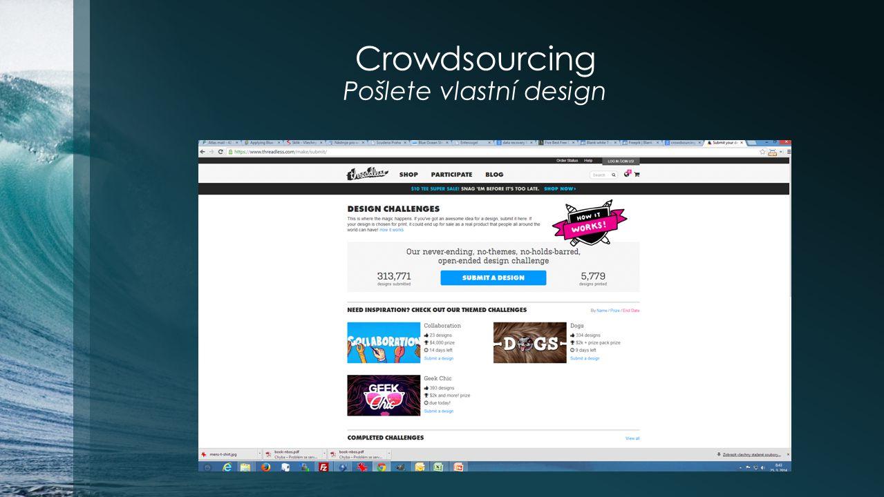 Crowdsourcing Pošlete vlastní design