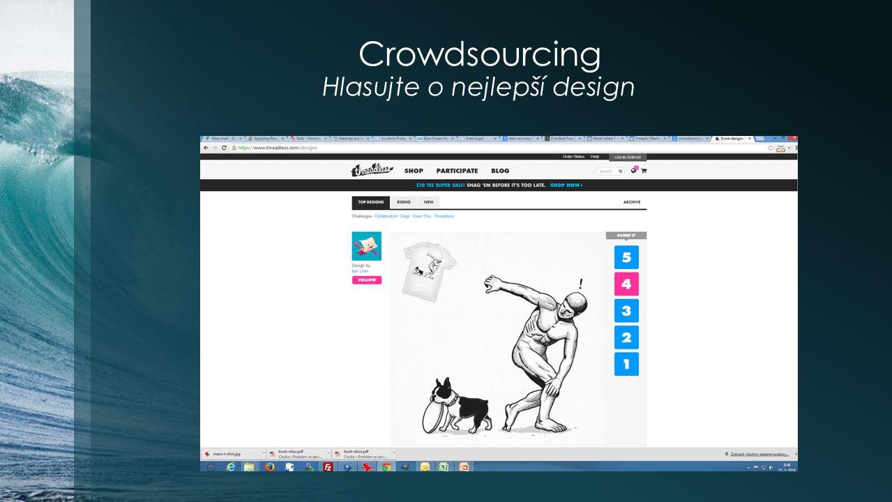 Crowdsourcing Hlasujte o nejlepší design