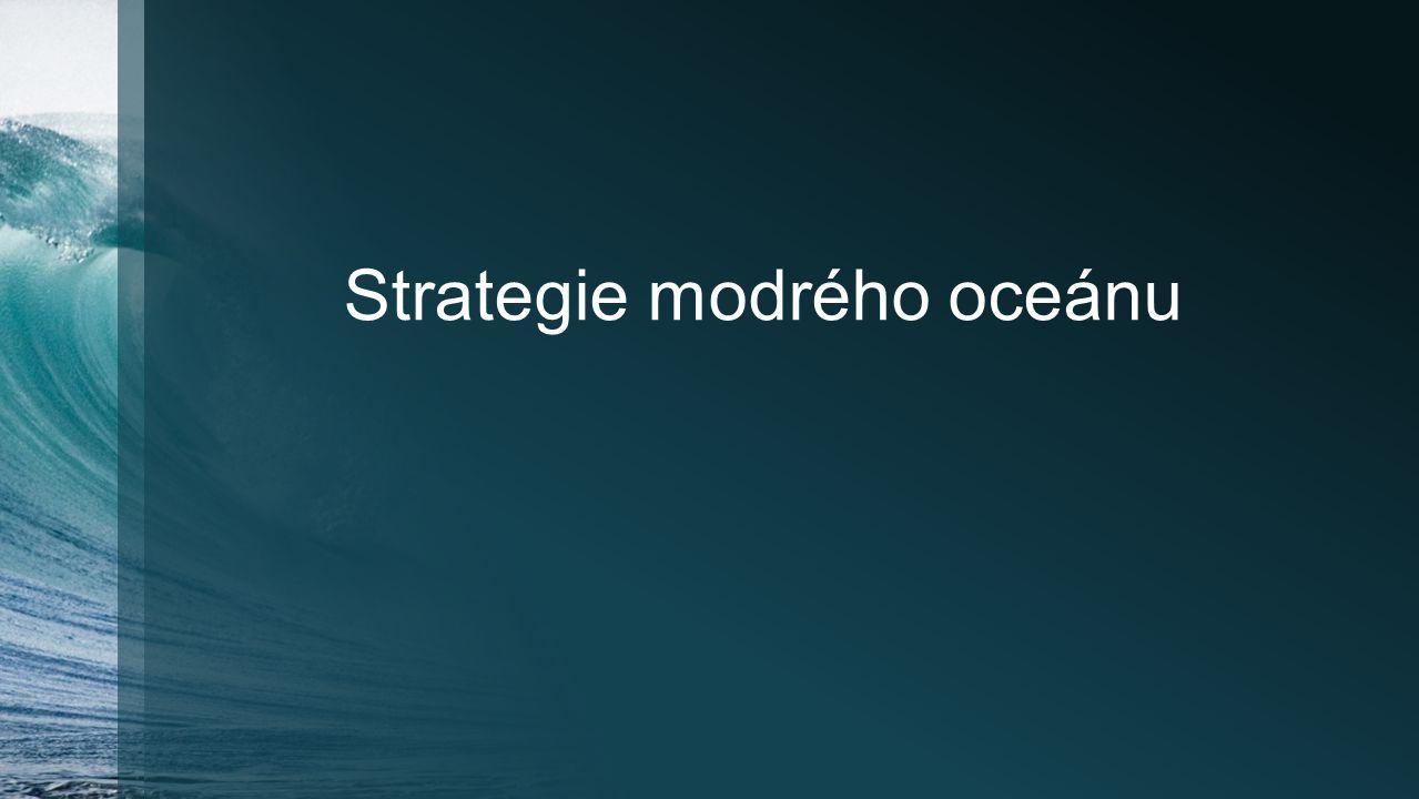 Šest principů strategie modrého oceánu Formulační principyRizikové faktory, jež každý z principů snižuje Rekonstruujte hranice trhu↓ Riziko hledání Zaměřte se na celkový obraz, nikoli na podrobné číselné údaje ↓ Riziko plánování Přesáhněte dosavadní poptávku↓ Riziko rozsahu Proveďte správně sled strategických kroků↓ Riziko podnikatelského modelu Realizační principyRizikové faktory, jež každý z principů snižuje Překonejte klíčové organizační překážky↓ Organizační riziko Součástí strategie učiňte její realizaci↓ Manažerské riziko