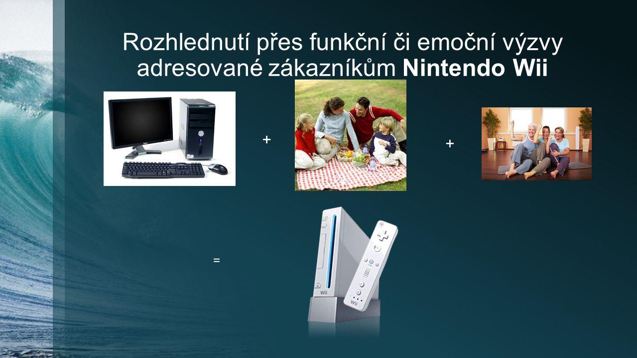 Rozhlednutí přes funkční či emoční výzvy adresované zákazníkům Nintendo Wii + + =