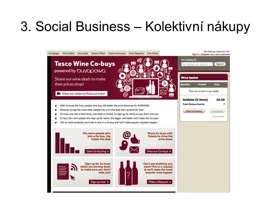 3. Social Business – Kolektivní nákupy