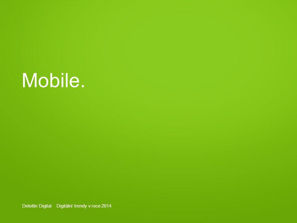 Deloitte Digital Digitální trendy v roce 2014 Mobile.