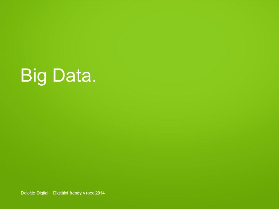 Deloitte Digital Digitální trendy v roce 2014 Big Data.