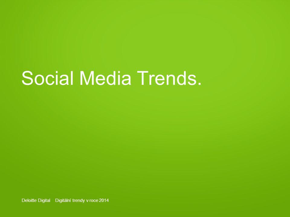 Deloitte Digital Digitální trendy v roce 2014 Social Media Trends.