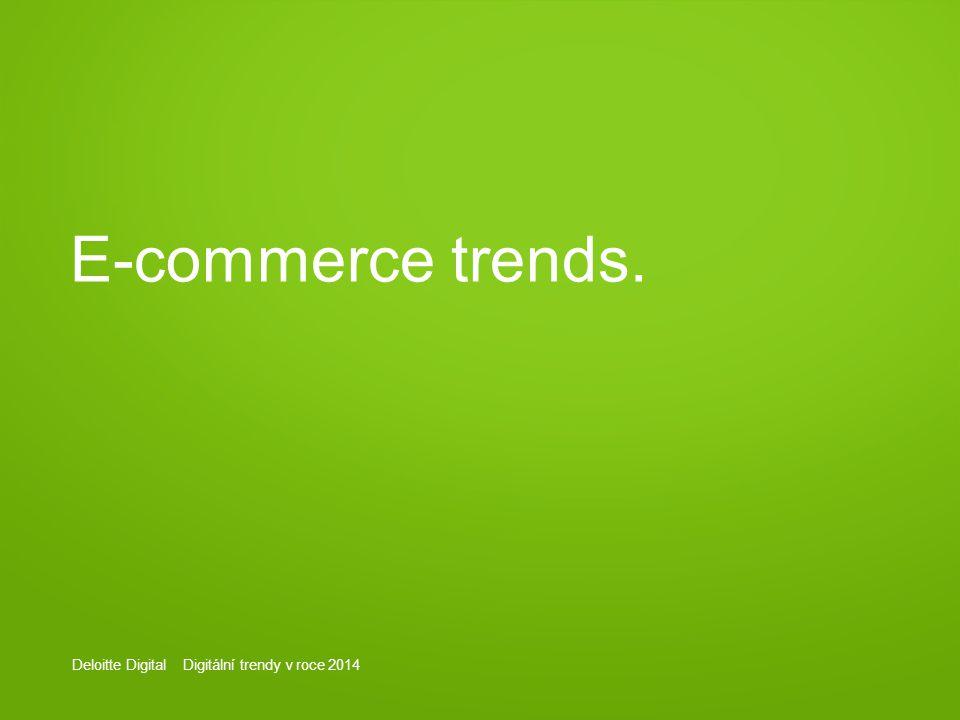 Deloitte Digital Digitální trendy v roce 2014 E-commerce trends.