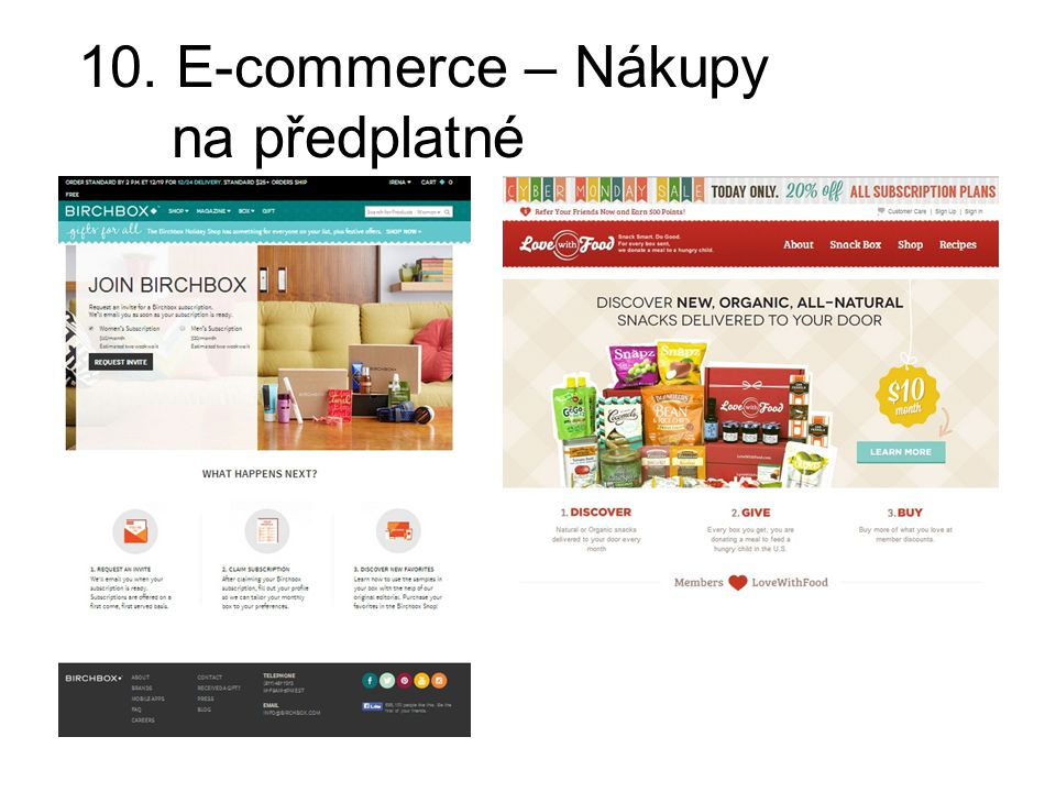 10. E-commerce – Nákupy na předplatné