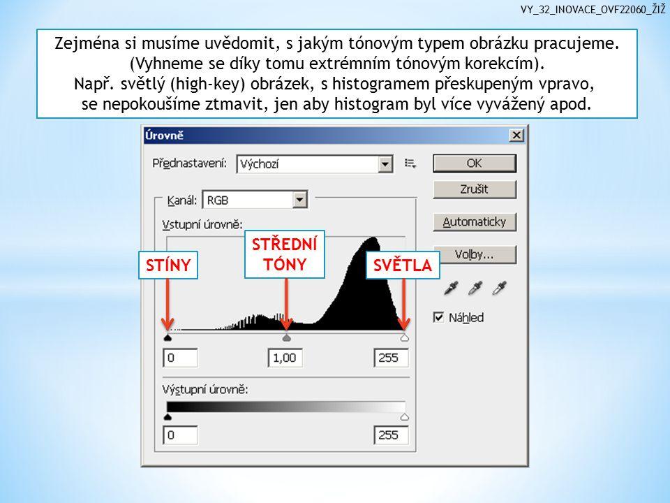 VY_32_INOVACE_OVF22060_ŽIŽ Zejména si musíme uvědomit, s jakým tónovým typem obrázku pracujeme.