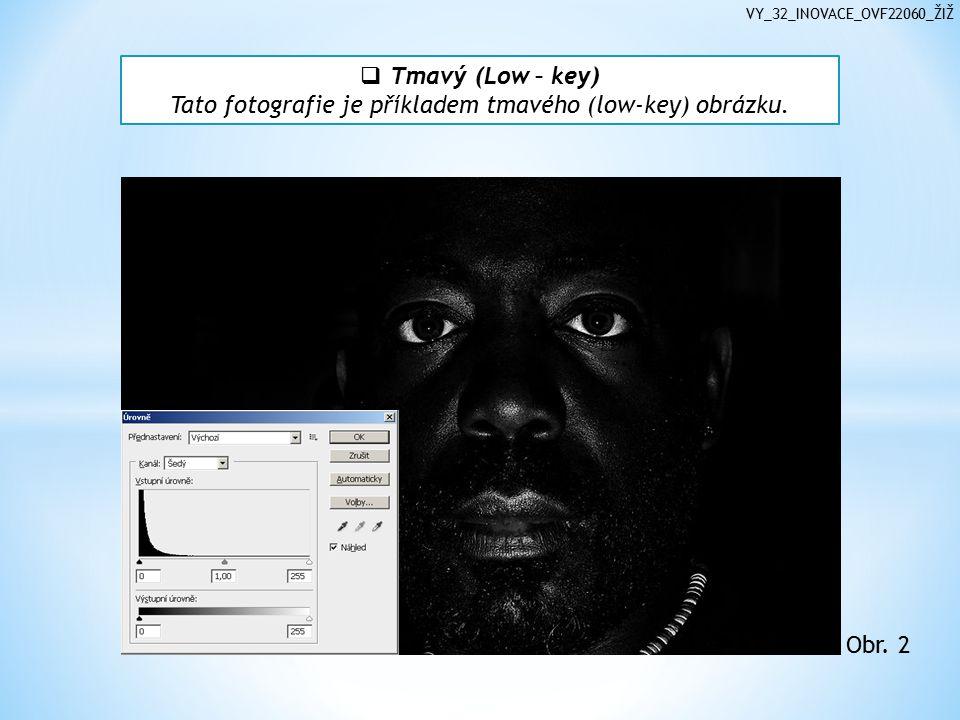 VY_32_INOVACE_OVF22060_ŽIŽ  Tmavý (Low – key) Tato fotografie je příkladem tmavého (low-key) obrázku.