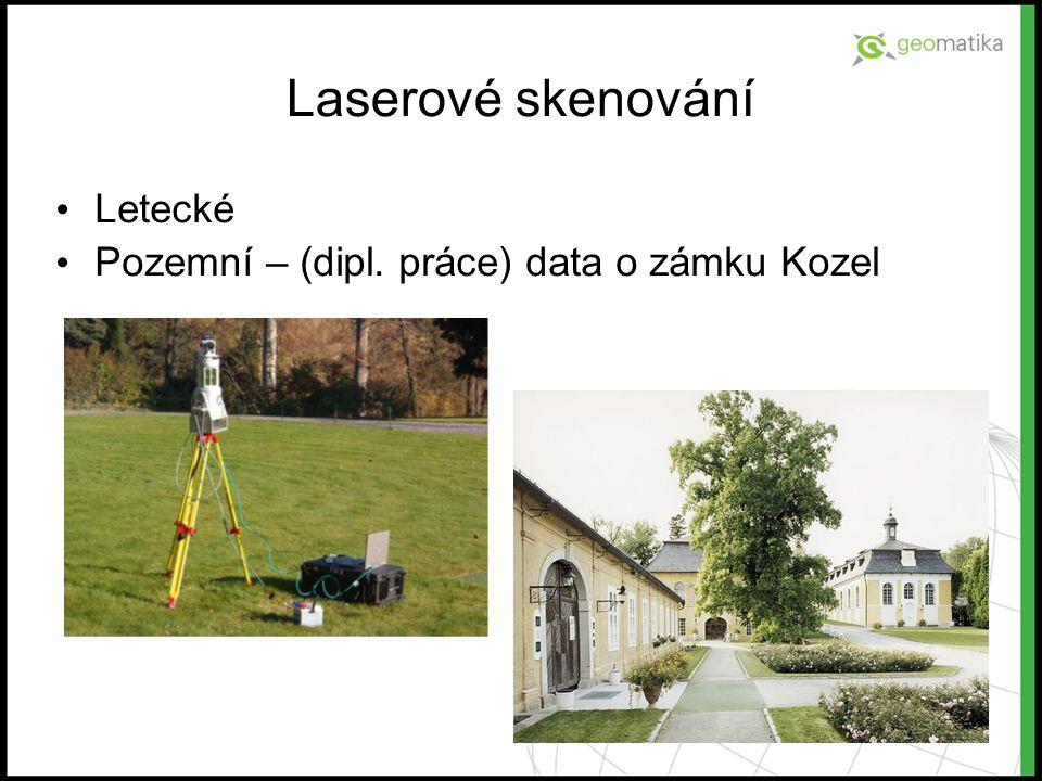 Laserové skenování Letecké Pozemní – (dipl. práce) data o zámku Kozel