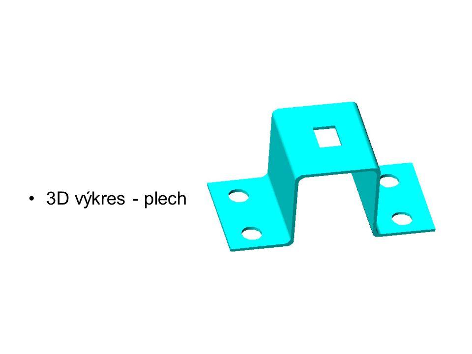 3D výkres - plech