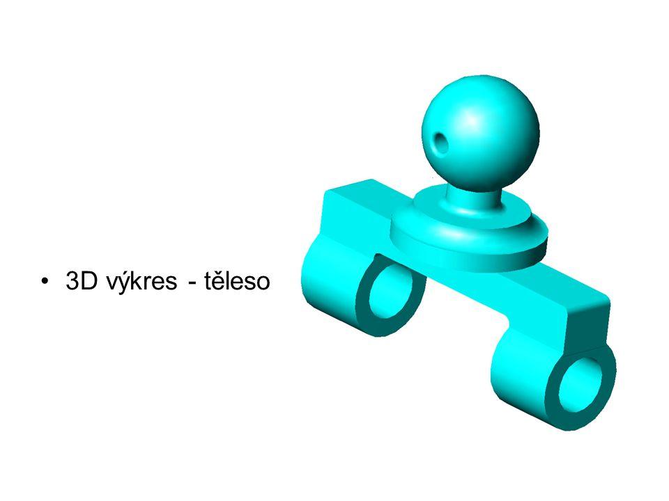 3D výkres - těleso