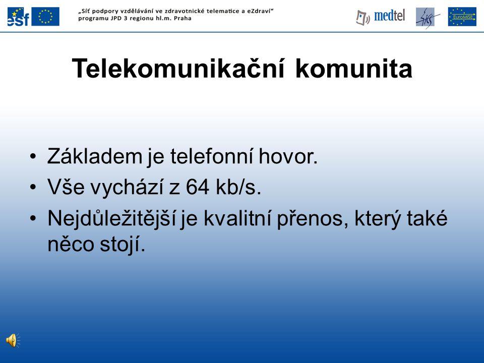 Telekomunikační komunita Základem je telefonní hovor.
