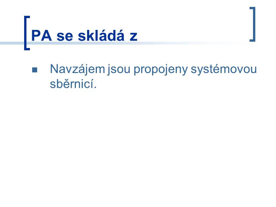 PA se skládá z Řídicí algoritmy jsou realizovány uživatelským programem, který může být zapsán v různých programovatelných jazycích a je uložen v uživatelské paměti PA.