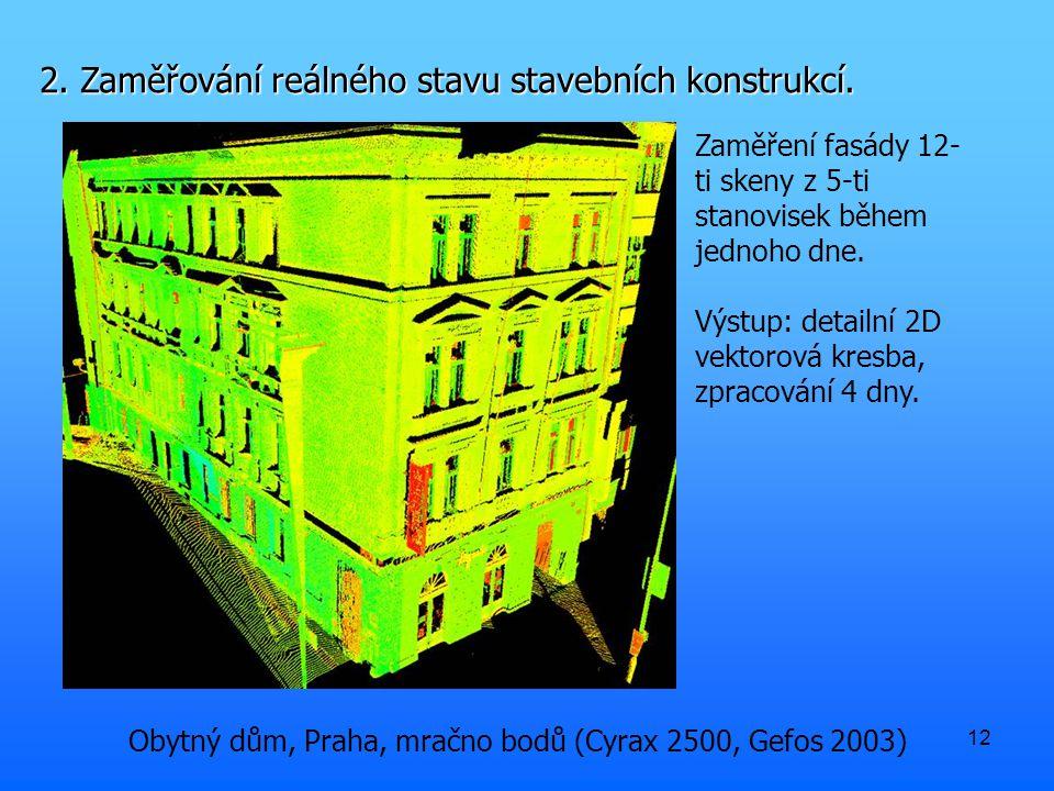 12 2. Zaměřování reálného stavu stavebních konstrukcí.