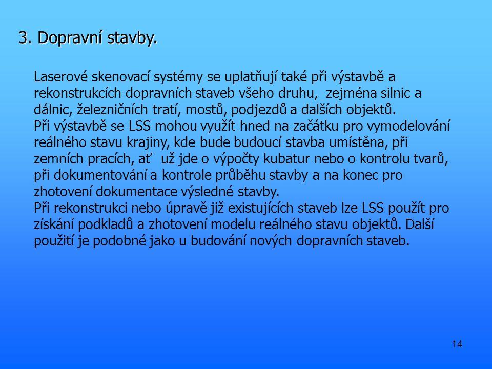 14 3. Dopravní stavby.