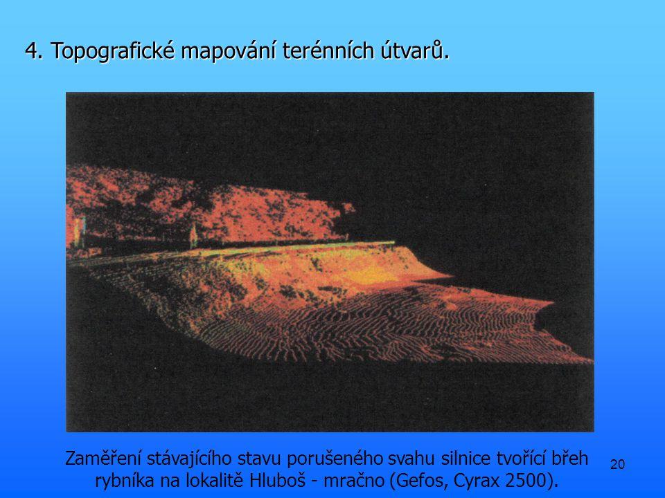 20 4. Topografické mapování terénních útvarů.