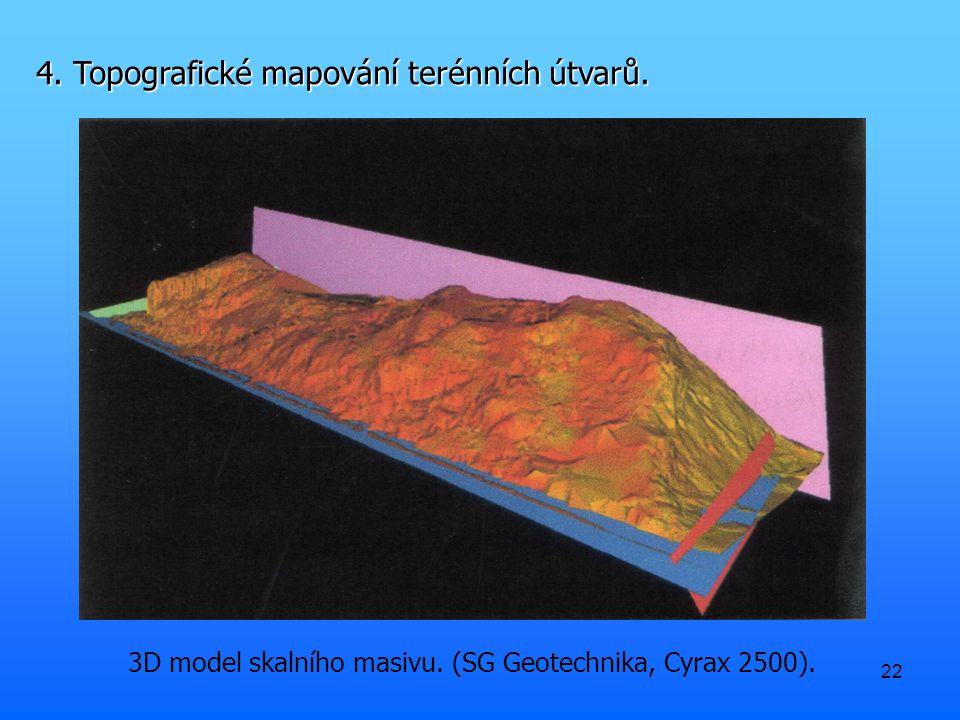 22 3D model skalního masivu. (SG Geotechnika, Cyrax 2500).